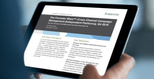 The Forrester Wave™: Cross-Channel Campaign Management (Independent Platforms), Q4 2019 Report: Emarsys Named as a Leader